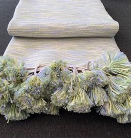 Plaid 100 % laine - chamaré vert