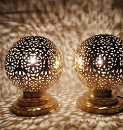 Moroccan table lamp brass