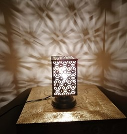 moroccan table lamp brass  -
