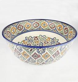 Large Salad Bowl with multicolore patterns