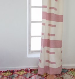 White and pink curtains