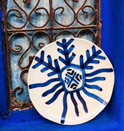 Assiette Zen motif bleu