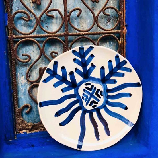 Assiette Zen motif bleu  - Design : ZEN KESH