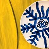 Assiette Zen motif bleu  4