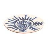 Assiette Zen motif bleu  3