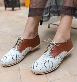 shoes african white