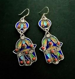 Boucles d'oreilles Khamssa kabyle