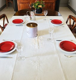 Tablecloth with ethnic motifs