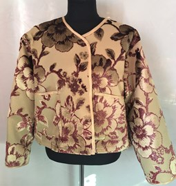 Short jacket brocade