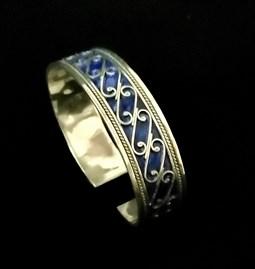 Blue Berber Cuff Bracelet