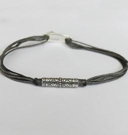 Bracelet Homme - cordon coulissant gris