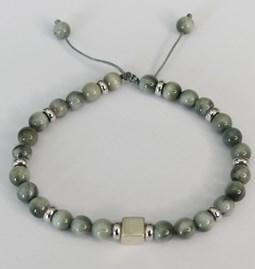 Bracelet pierres de chat et apprêt en argent