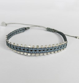 Woven silver bracelet