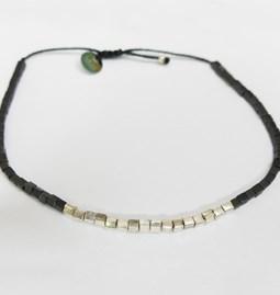 Hematite bracelet and silver primers