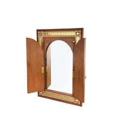 Miroir en bois de cèdre massif avec portes