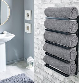 Wall towel holder