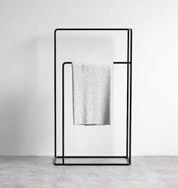 Porte serviettes en métal noir design