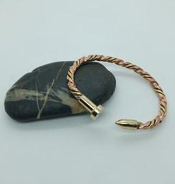 Bracelet en cuivre torsadé bi-color