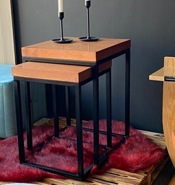 Industrial style nesting tables