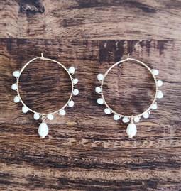 Créoles perles douces