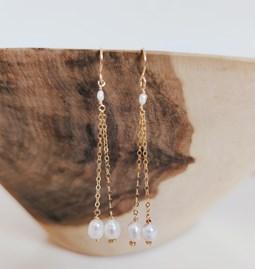 """Boucles d""""oreilles Perla perles douces"""