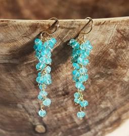 Boucle d'oreilles Douceur bleue