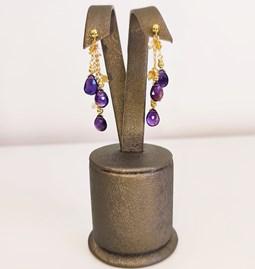 Boucle d'oreilles amazing purple