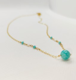 Collier Bleu d'Amazonite