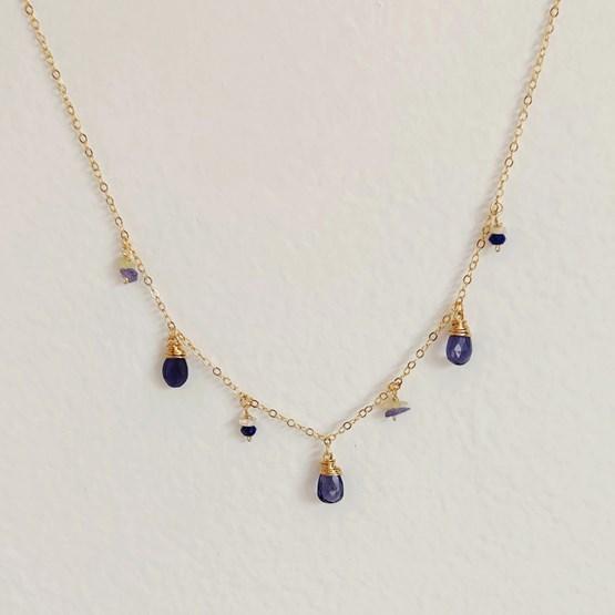 Collier Amazing blue - Design : NÉOZINE BIJOUX