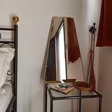 Miroir trapèze en laiton 2