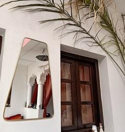 Miroir trapèze en laiton