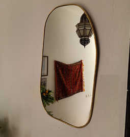 Miroir Serpentine en laiton