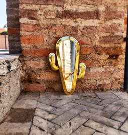 Miroir Cactus en Laiton