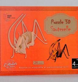 Puzzle 3D Sauterelle