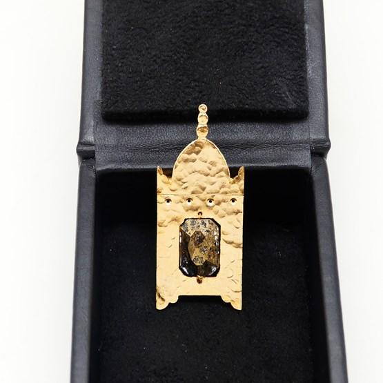 """Pendentif  ou Broche """"La Lanterne"""" - 2 bijoux en 1 - Design : AKALIA BY K"""