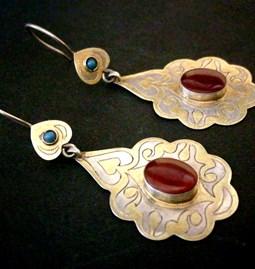 Boucles d'oreilles turkmène