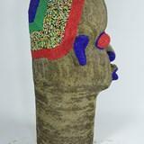 Statue Tête africaine perlée 3