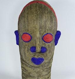 Statue Tête africaine perlée