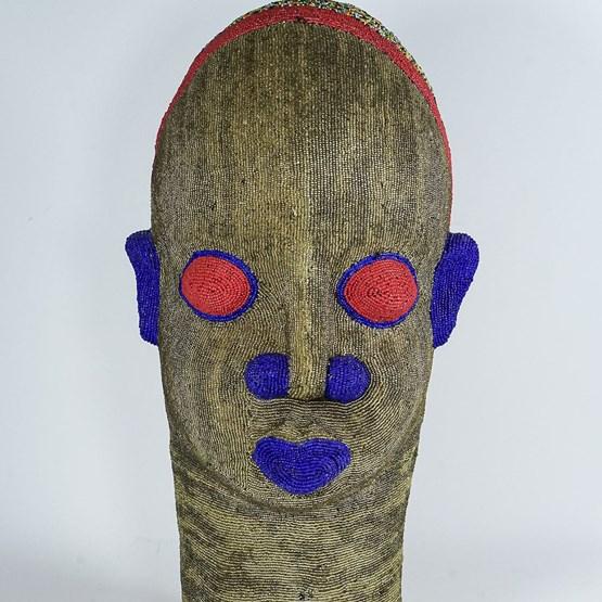 Statue Tête africaine perlée - Design : CAMEL SOUK
