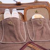 Trousse de toilette en cuir et rafia 4