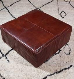Pouf cuir carré