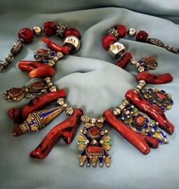 Collier branche de corail kabyle