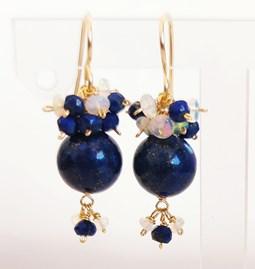 Boucles d'oreilles Lapis Lazuli & Opale éthiopien