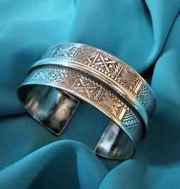 Bracelet Touareg  en argent originaire du Mali