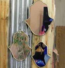 Trio de miroirs main de Fatma