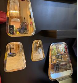 Quatuor de miroirs en maillechort