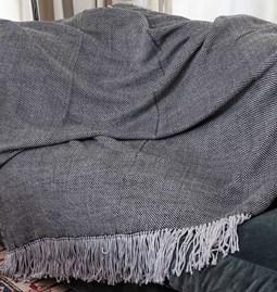 Plaid Damier 100 % laine