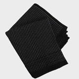 Tapis noir coton 2