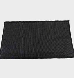 Black cotton carpet