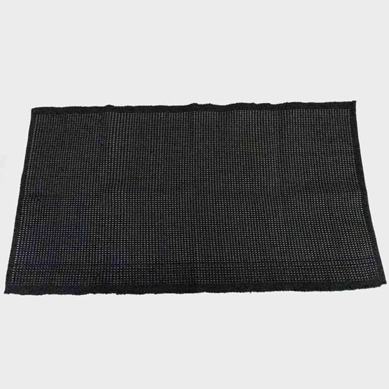 Tapis noir coton - Design : COOPERATIVE TISSAGE ARTISTIQUE